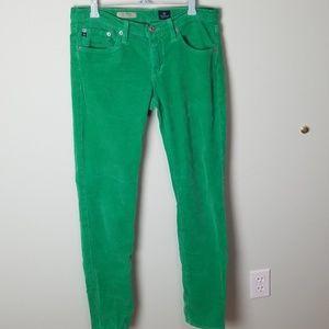 AG Adriano Goldstein kelly green corduroy pants